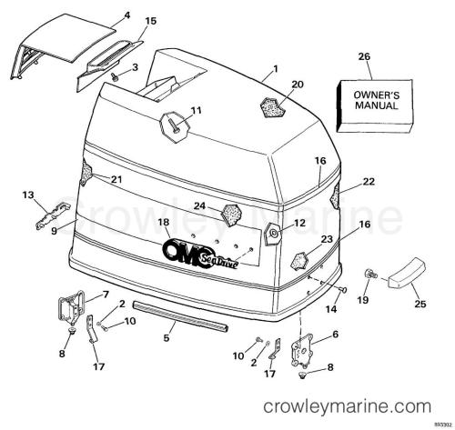 small resolution of engine cover 1989 omc sea drive 4 0l 40bprarf crowley marine rh crowleymarine com omc engine manual omc motor diagram