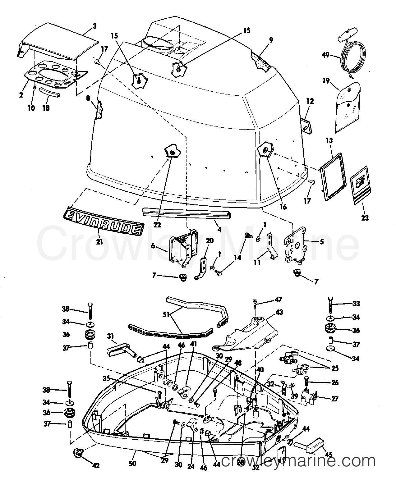 Motor Cover Evinrude