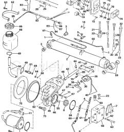 1990 omc sea drive 2 0l hydraulic 20ahrdgh selectrim tilt section [ 1147 x 1515 Pixel ]