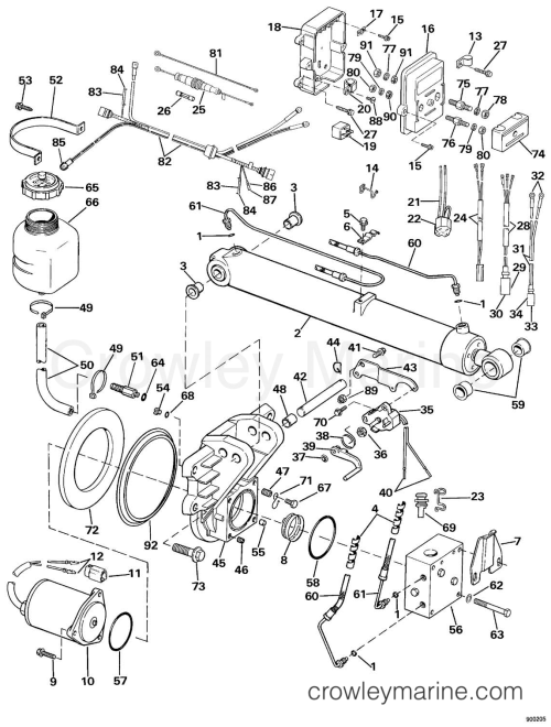 small resolution of 1990 omc sea drive 2 0l hydraulic 20ahrdgh selectrim tilt section