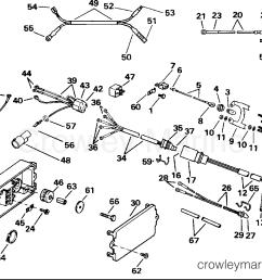 1991 evinrude outboards 120 ve120tleie power trim tilt electrical section [ 1460 x 1046 Pixel ]