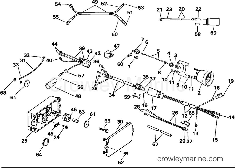 medium resolution of 1991 evinrude outboards 120 ve120tleie power trim tilt electrical section