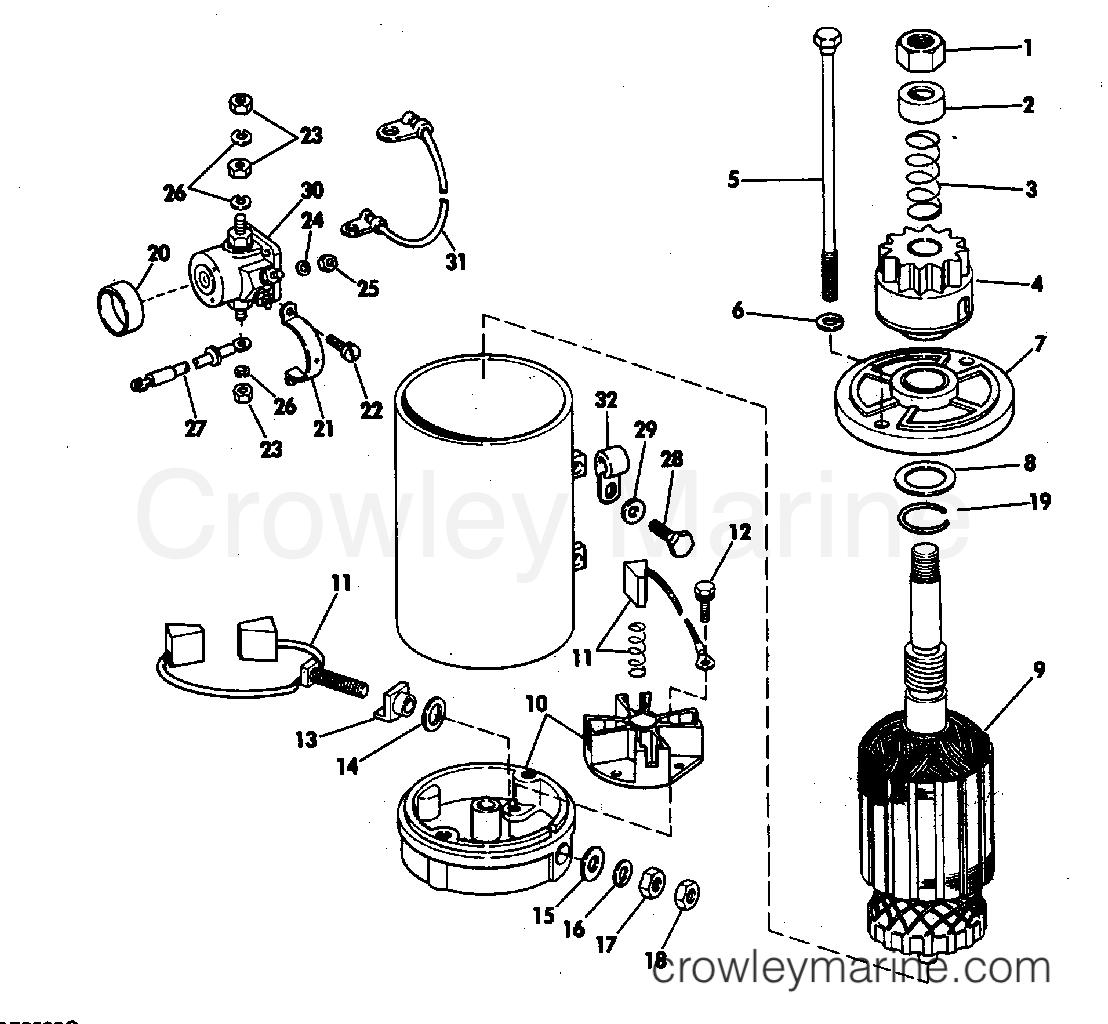 ELECTRIC STARTER & SOLENOID AMERICAN BOSCH 17916-20-M030SM