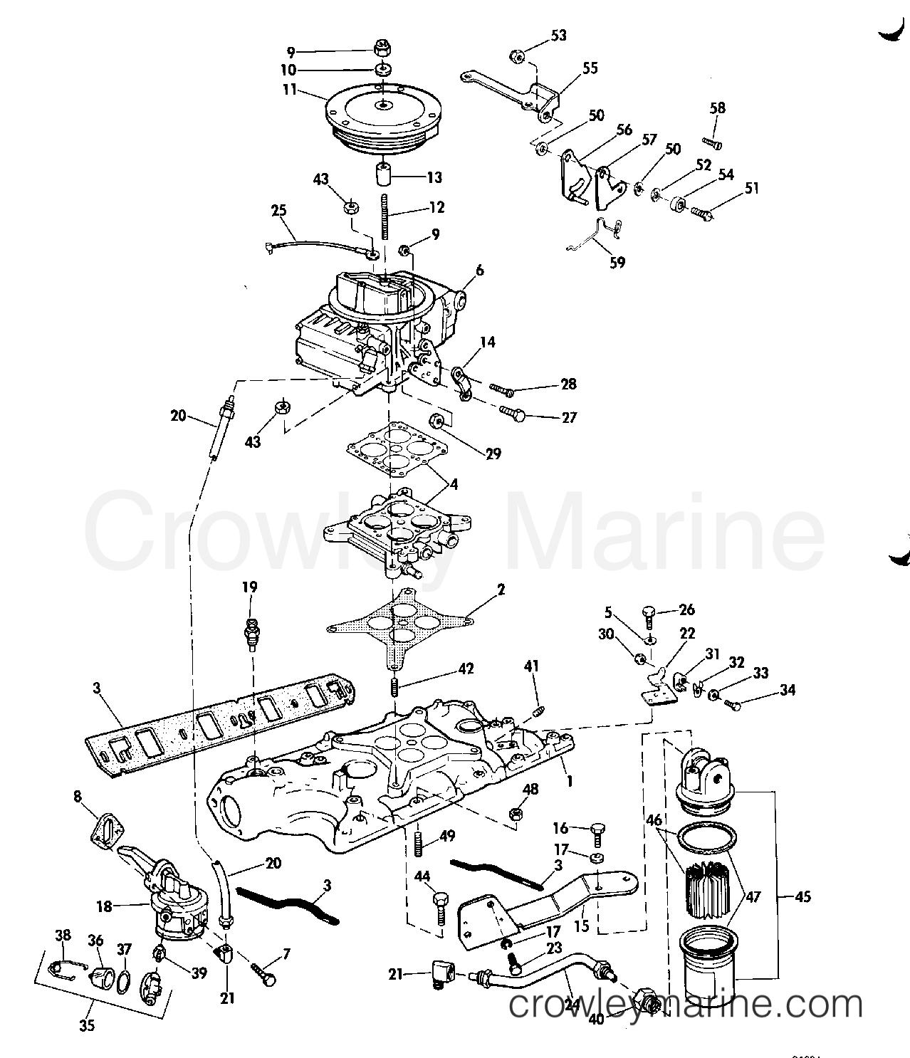 Intake Manifold Fuel Pump Amp Carburetor Lines 250 Model