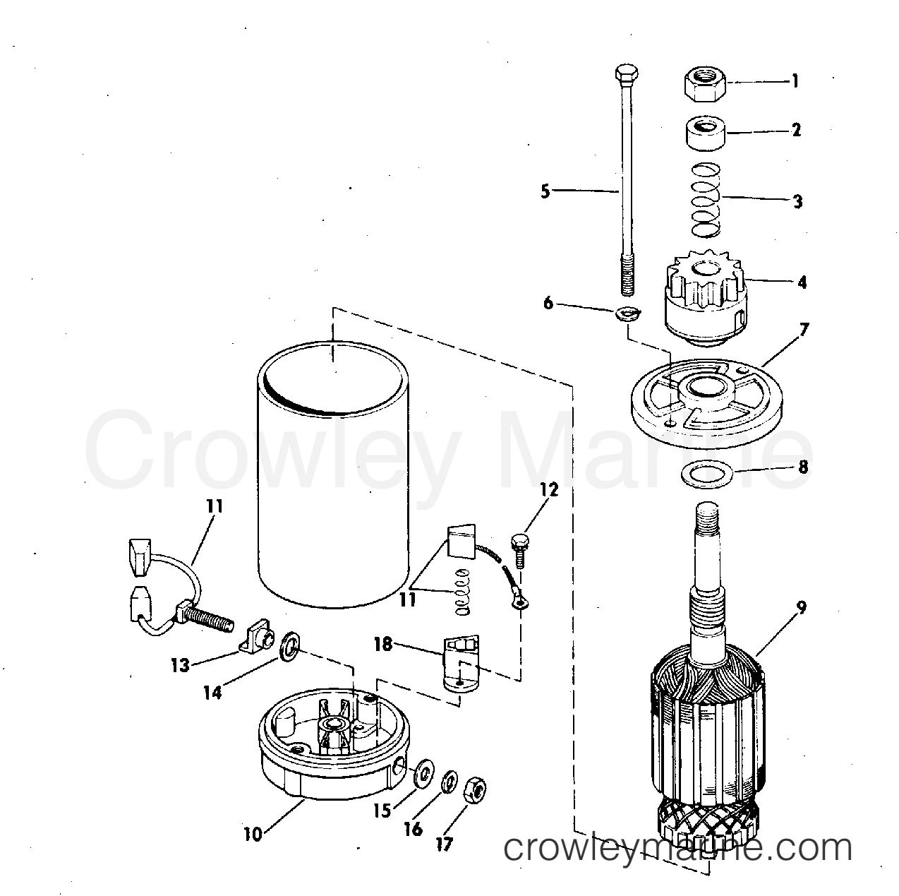 Electric Starter American Bosch Smh 12b41 Amp Smh 12b43