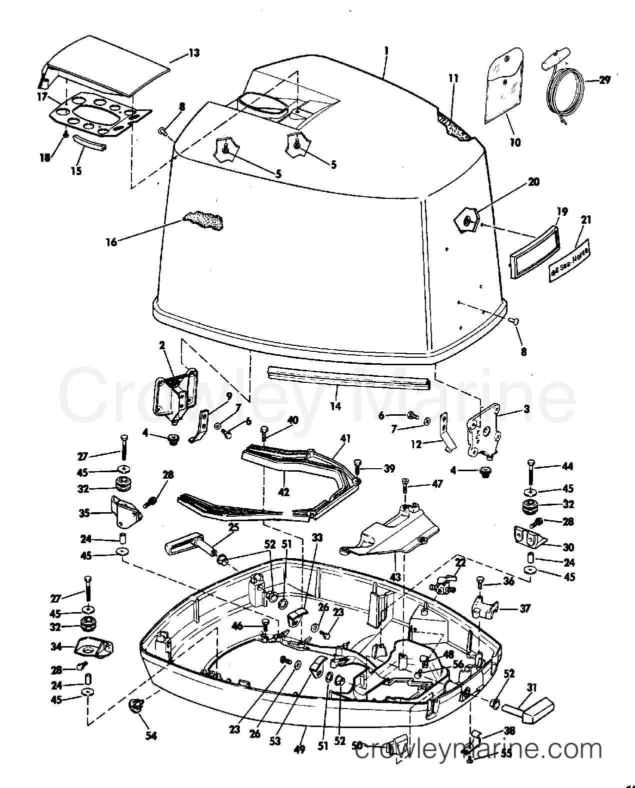 Motor Cover Johnson