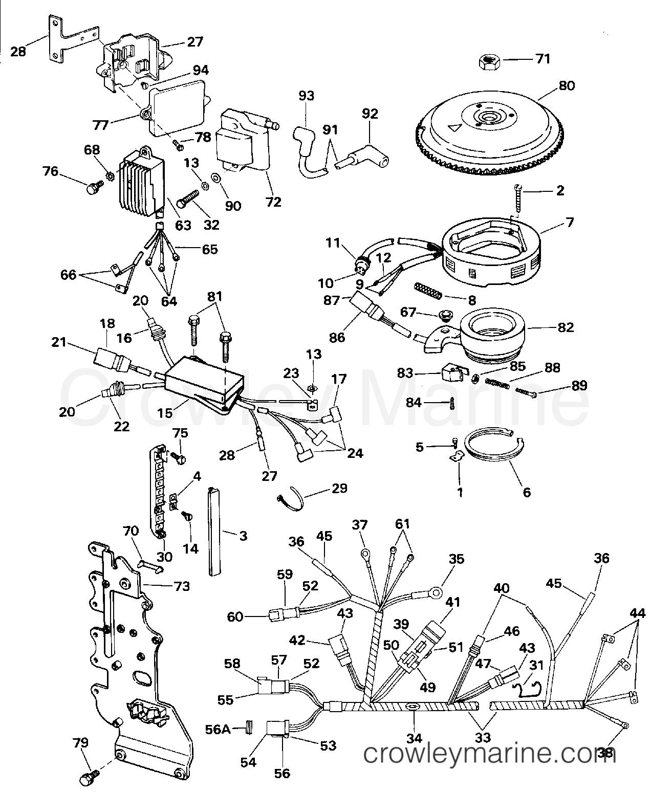 70 Hp Evinrude Wiring Diagram