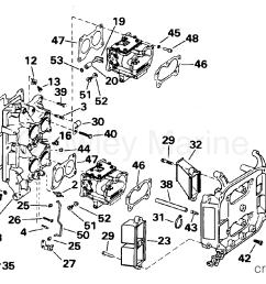 1995 omc turbojet 115 115jeeob intake manifold section [ 1847 x 1014 Pixel ]