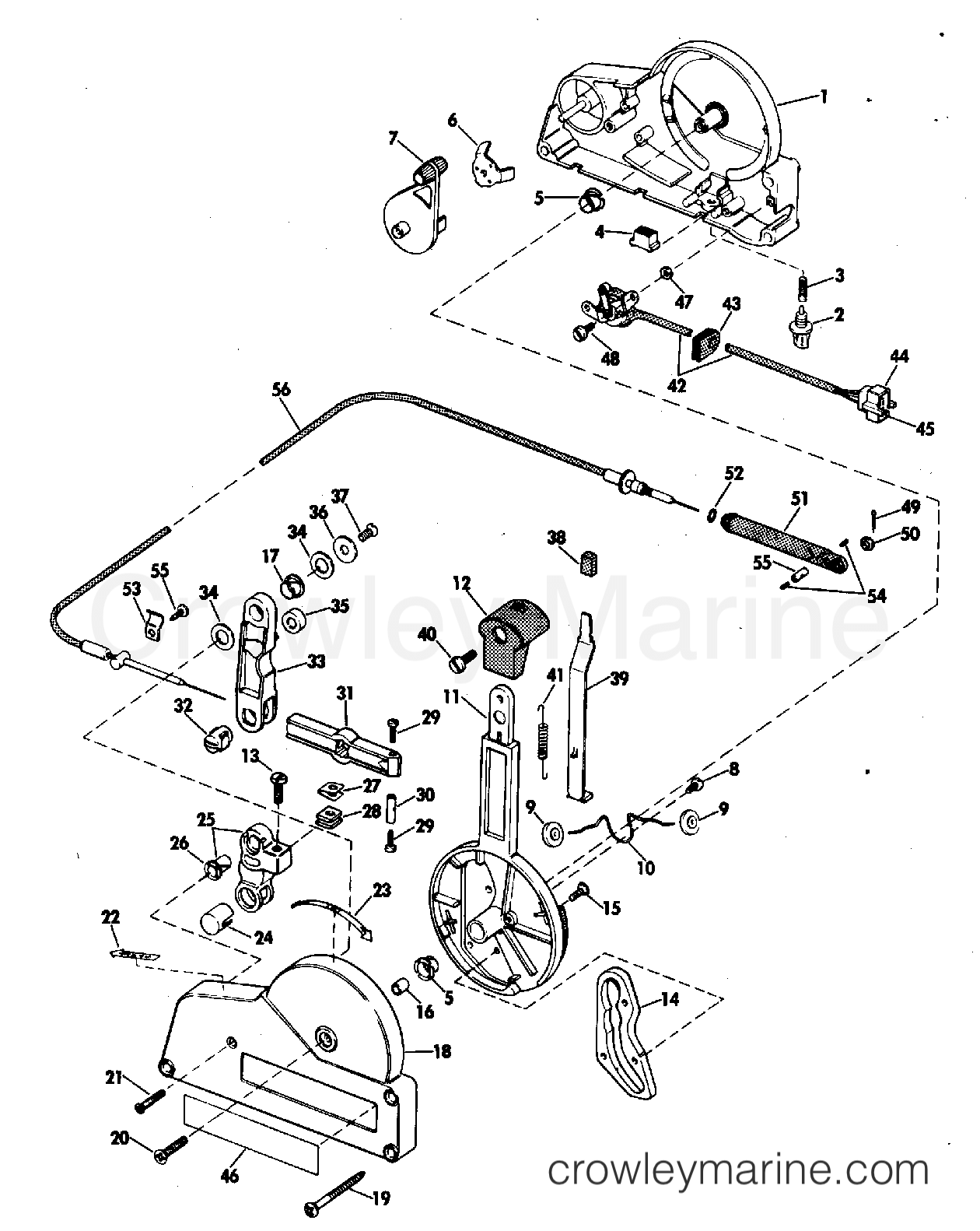 Remote Control Assy Single Lever Optional Item