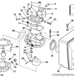 1989 evinrude outboards 6 e6rcec carburetor section [ 1321 x 1024 Pixel ]