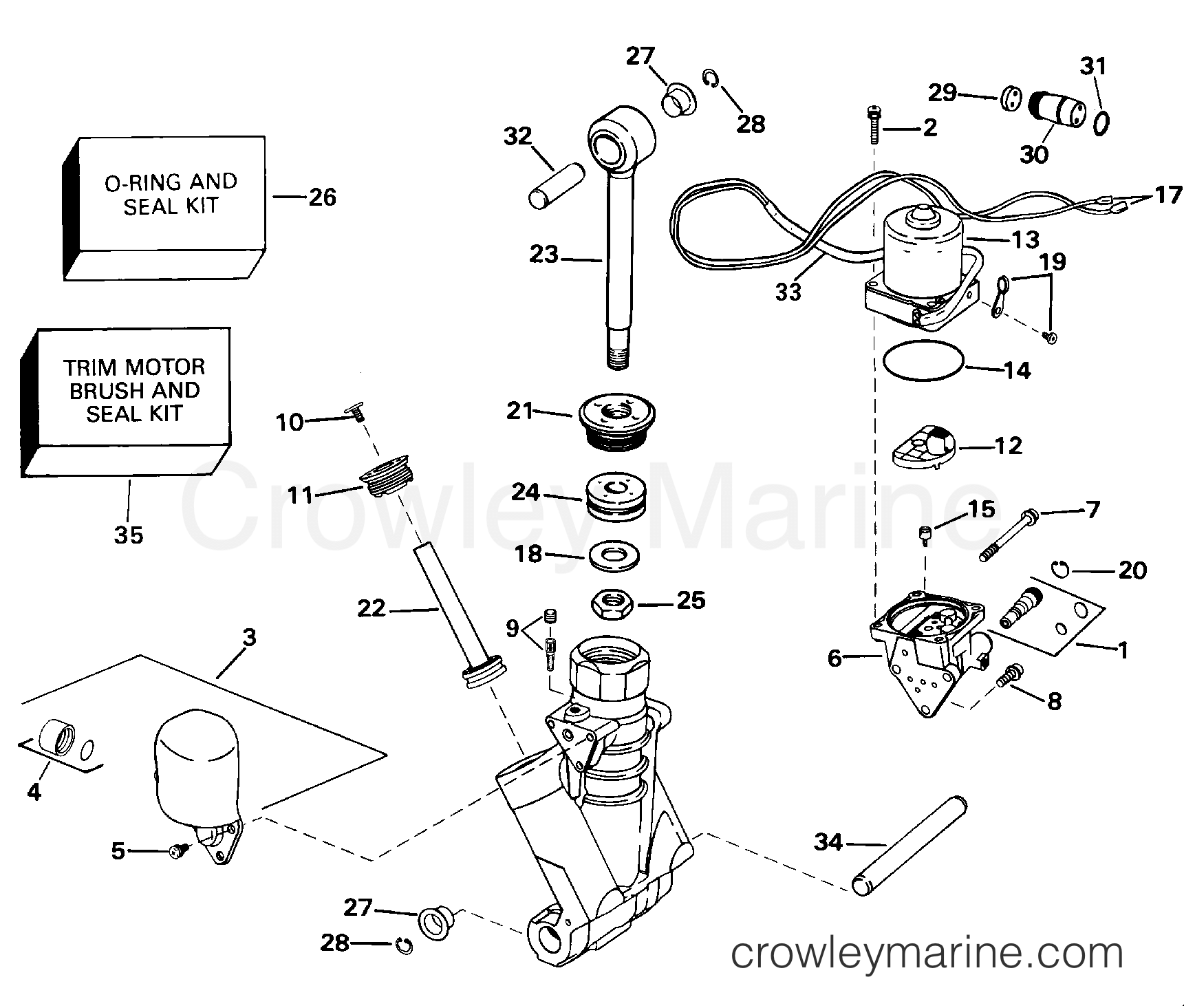 Power Trim And Tilt Hydraulic Assembly