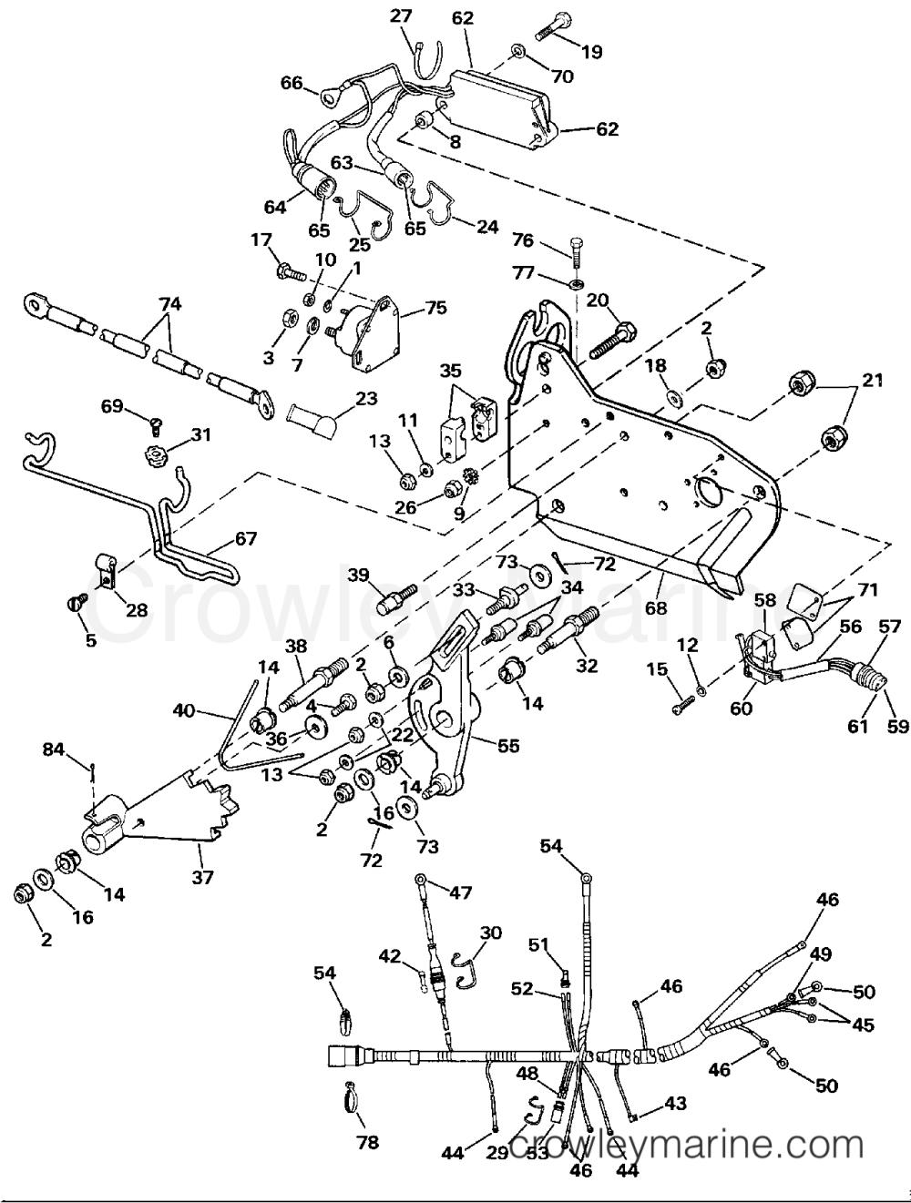 medium resolution of wire harness bracket solenoid 1989 omc stern drive 5 502amlmed omc stern drive wiring diagram