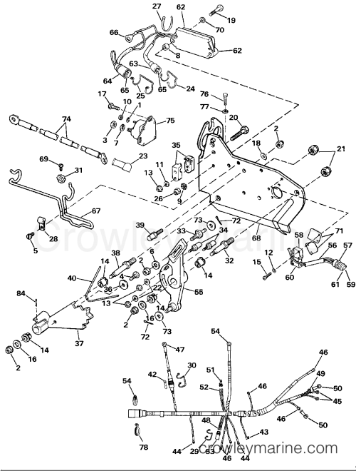 small resolution of wire harness bracket solenoid 1989 omc stern drive 5 502amlmed omc stern drive wiring diagram