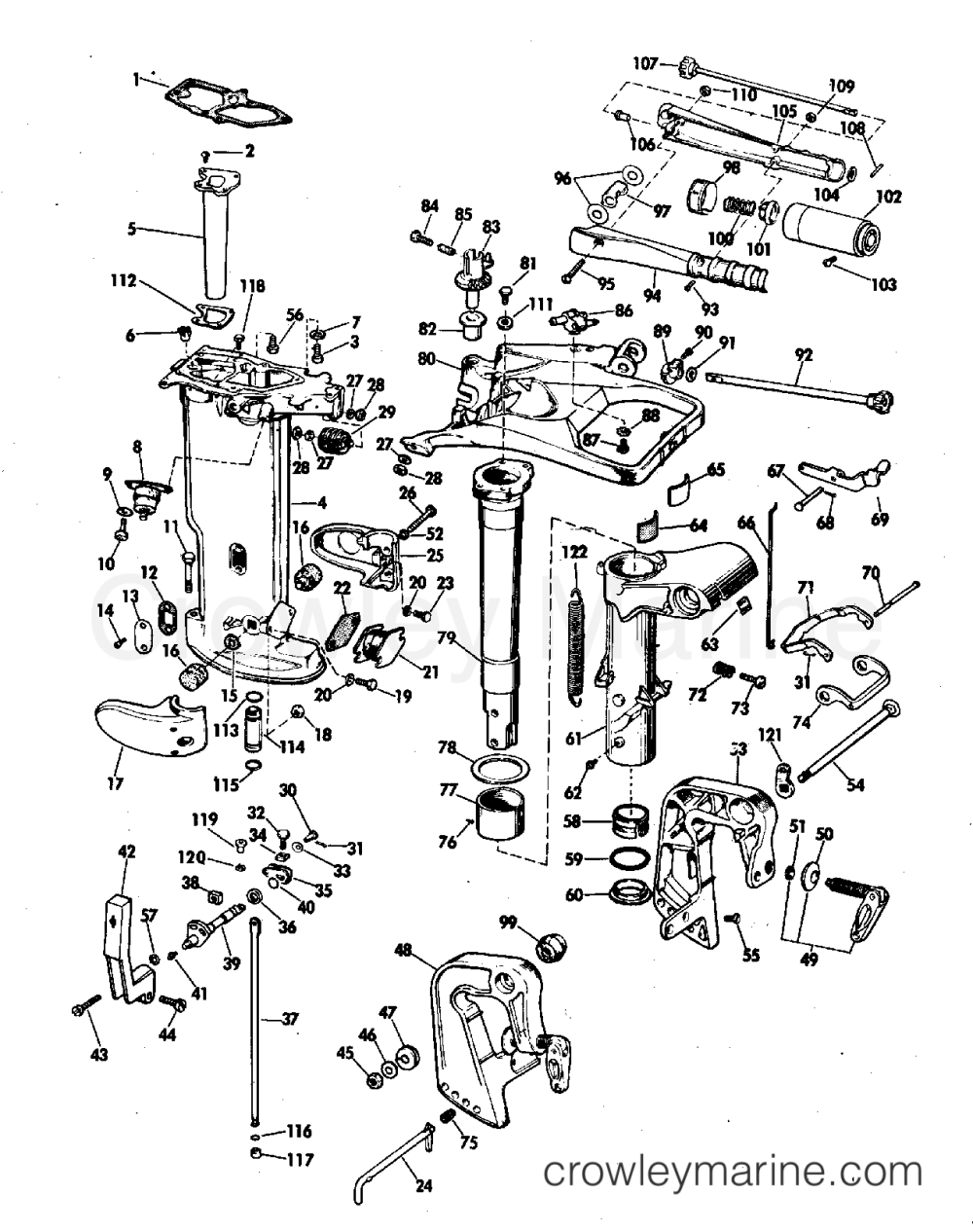 medium resolution of diagram of 1972 25e72r johnson outboard gearcase diagram and parts diagram of 1972 65esl72s johnson outboard motor cover diagram and