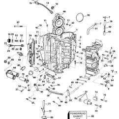 Johnson 115 Outboard Wiring Diagram Window Ac Psc Cylinder And Crankcase 1999 Evinrude Outboards