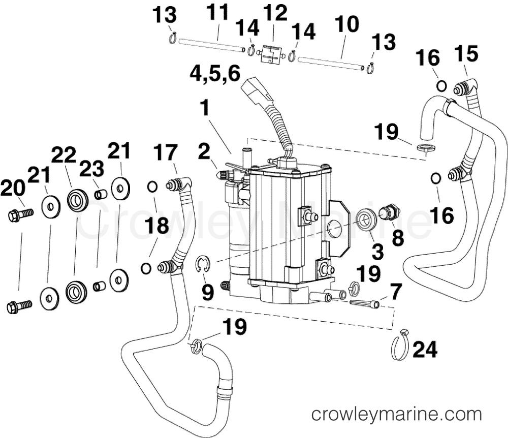 medium resolution of af evinrude outboards 55 mfe e55mjrlafa fuel pump vapor separator section