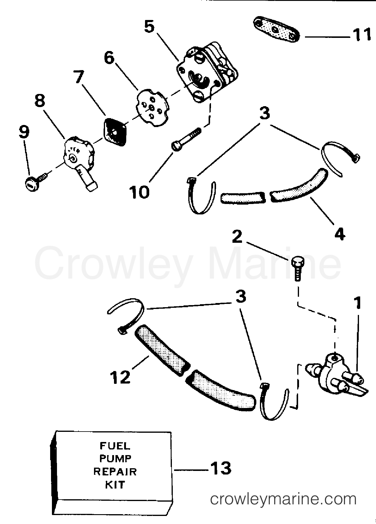 hight resolution of 1991 evinrude outboards 4 e4reia fuel pump section