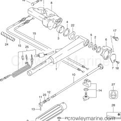 25 Hp Johnson Outboard Parts Diagram Human Skull Bones Labeled Tiller Arm 2006 Outboards Bj25r4sds Crowley