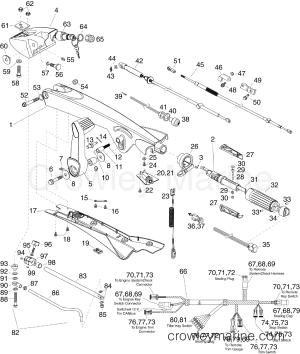 TILLER KIT  75, 90 HP (ETEC)  20132015 Rigging Parts ETEC STEERING   Crowley Marine
