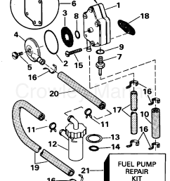1995 evinrude outboards 25 e25rweos fuel pump section [ 1260 x 1641 Pixel ]
