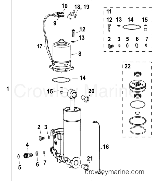 small resolution of af evinrude outboards 40 e40dplafa trim tilt hydraulic assembly section