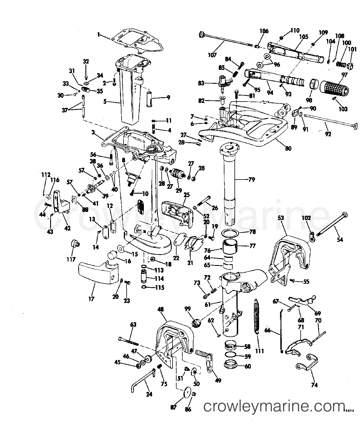 25 hp johnson outboard parts diagram blank rock cycle worksheet exhaust housing 1977 evinrude outboards 35 35702c