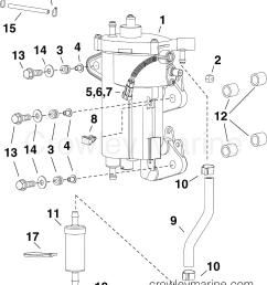 ab evinrude outboards 30 e30dtlabb fuel pump vapor separator section [ 2500 x 2957 Pixel ]
