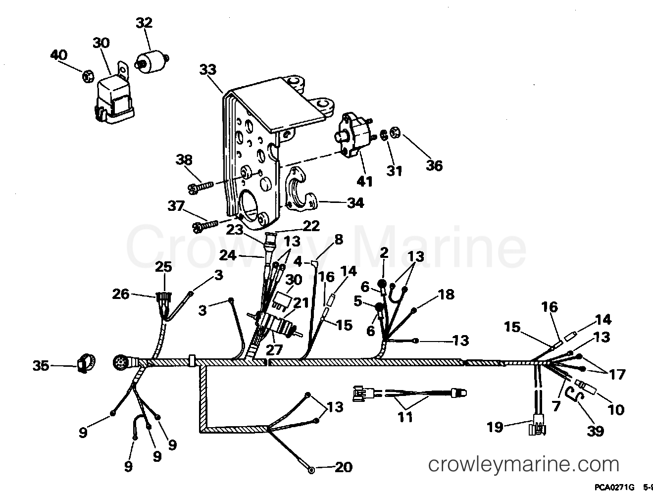 hight resolution of 1995 omc stern drive 4 3 43aphub engine wire harness shift module section