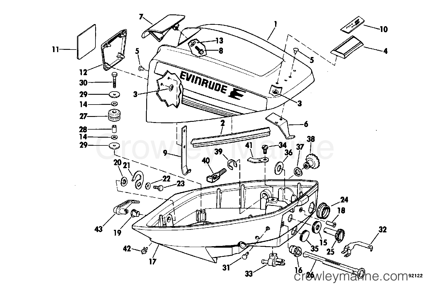 Johnson Evinrude Parts Diagram
