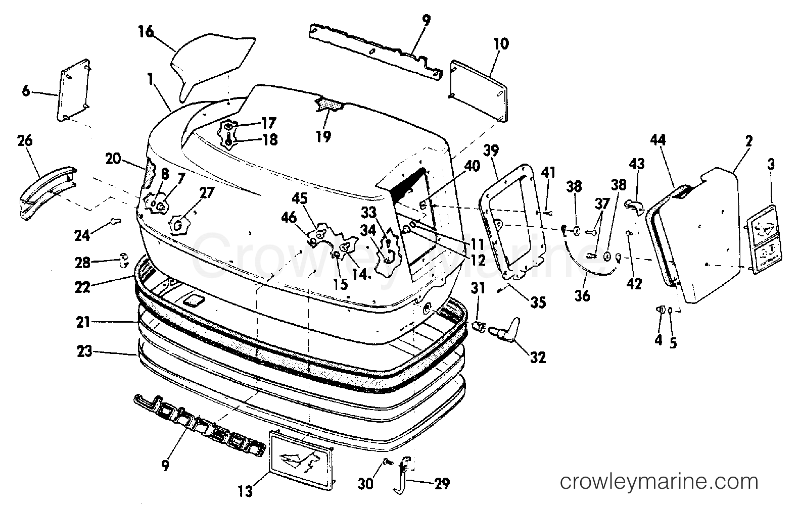 Motor Cover Group Electric Shift