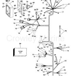 1998 omc stern drive 4 3 432bpbyc engine wire harness bracket tbi [ 2007 x 2639 Pixel ]
