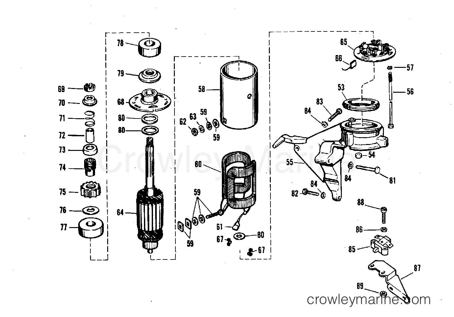 Electric Starting Kit 18 20 Amp 25 Hp Starter Motor