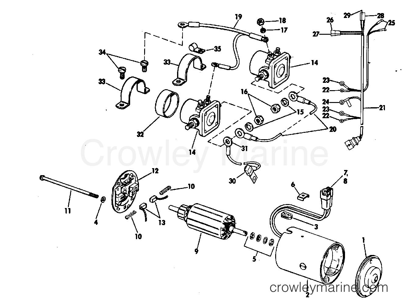 Tilt Motor Group Prestolite Model Etk 80 120 155 210