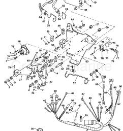 1990 omc stern drive 3 302bmrpwr wire harness bracket solenoid section [ 1278 x 1593 Pixel ]