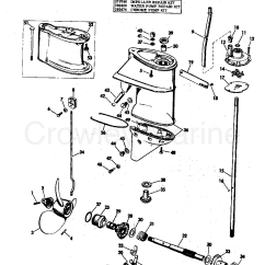 25 Hp Johnson Outboard Parts Diagram 6 Way Trailer Plug Wiring Ford Gearcase Group 1970 Evinrude Outboards 25002e