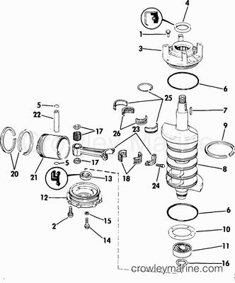 Engine Diagram 1987 Evinrude Prop Mercury Marine Engine