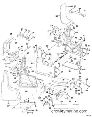 Rear Engine Shift Linkage Diagram, Rear, Free Engine Image