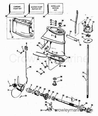 Omc Johnson Evinrude Model Guide Marine Engine