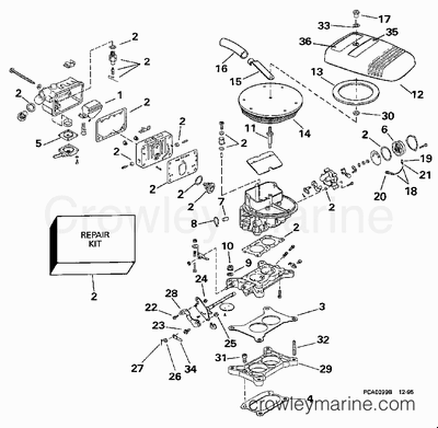 Mercruiser Alpha 1 Schematic, Mercruiser, Free Engine