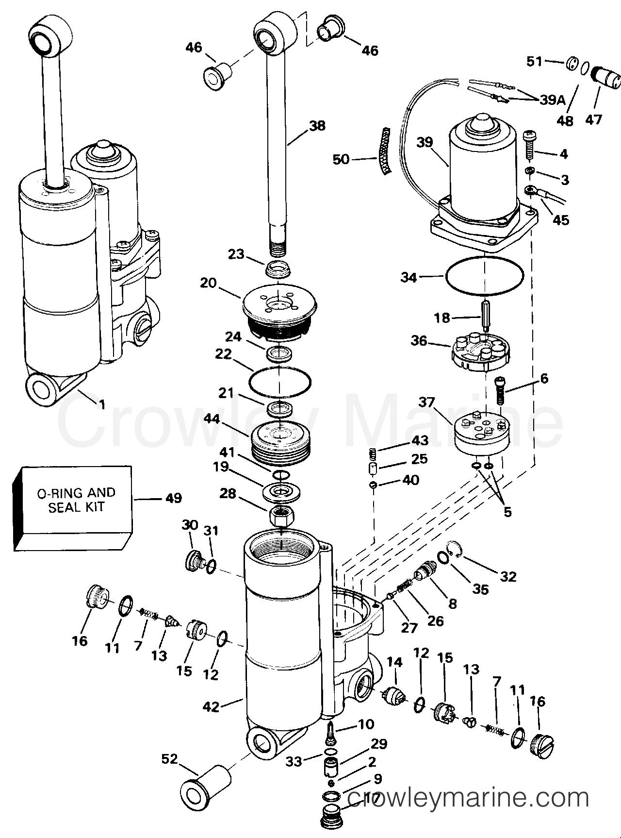 Array power trim tilt b model number suffix only 1993 evinrude rh crowleymarine