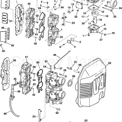 2002 Evinrude 90 Ficht Wiring Diagram Electric Plug Carburetor And Intake Manifold 2003 Johnson Outboards 115
