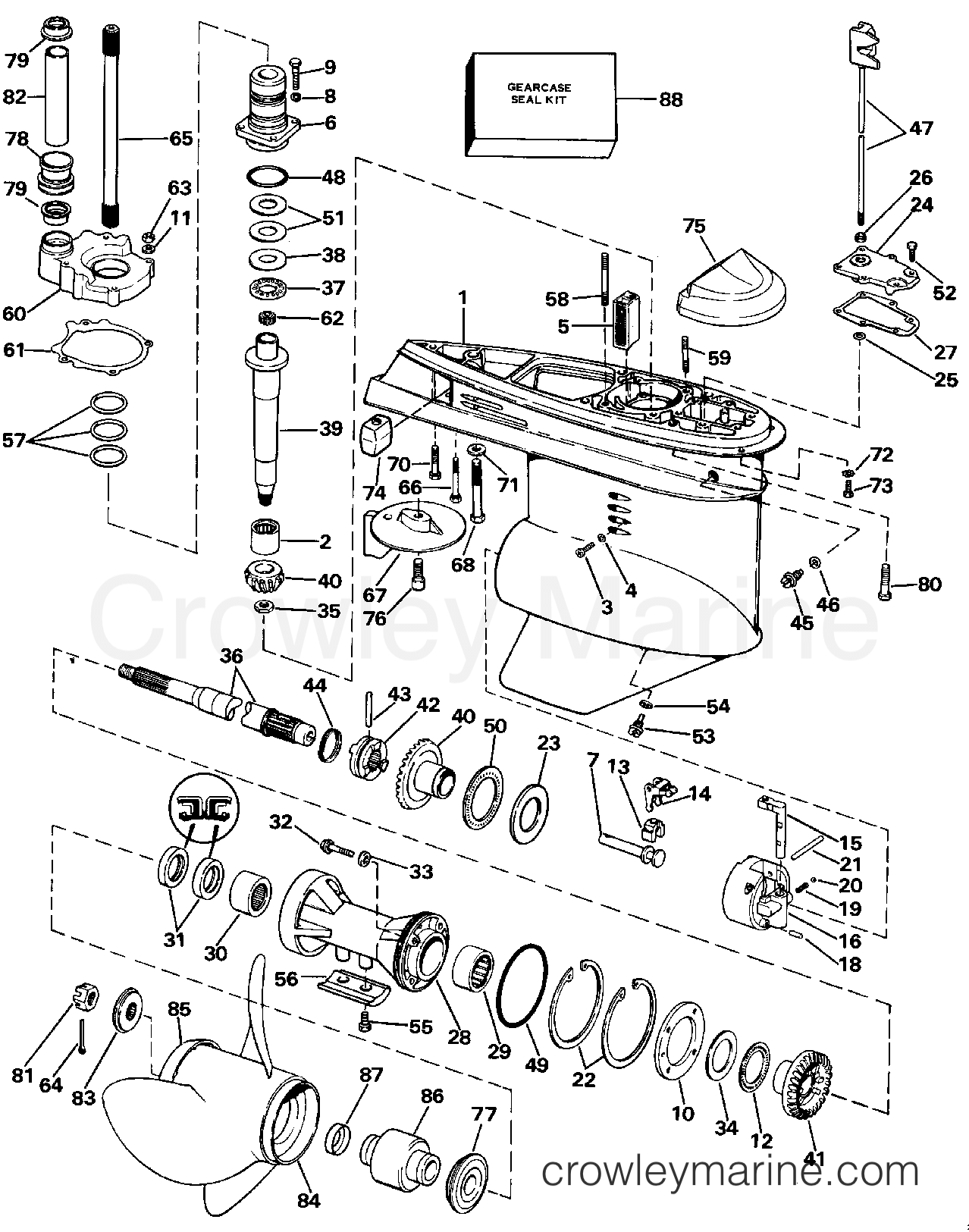 mando alternator wiring diagram 1989 honda accord lower gearcase 1988 omc stern drive 2 3 232amrgde