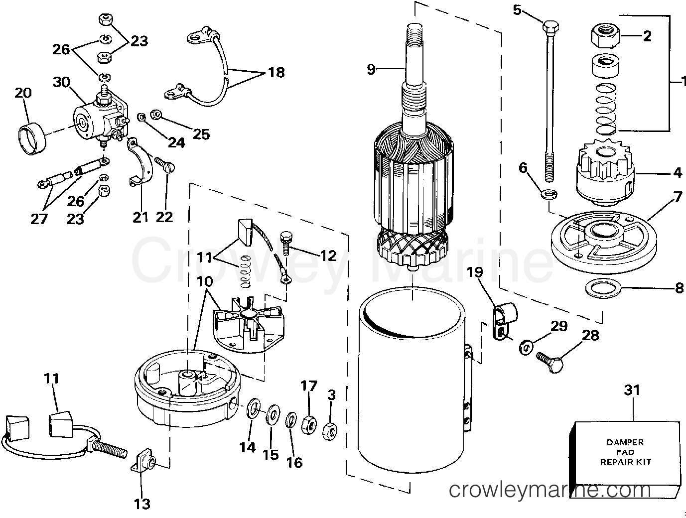 ELECTRIC STARTER & SOLENOID AMERICAN BOSCH 20702-21-MO30SM