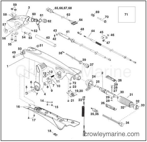 TILLER HANDLE KIT, P/N 5007118 INSTALLATION INSTRUCTIONS