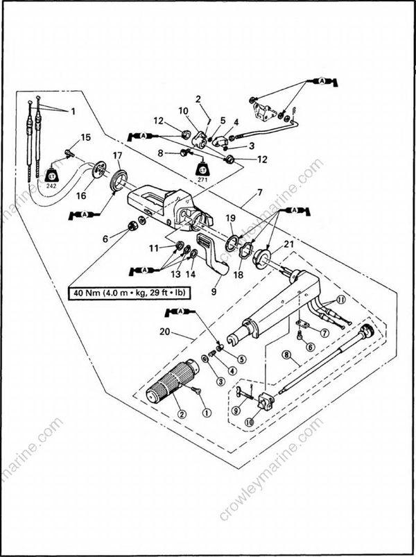 Bracket Unit [Steering Bracket, Shift Lever, And Tiller