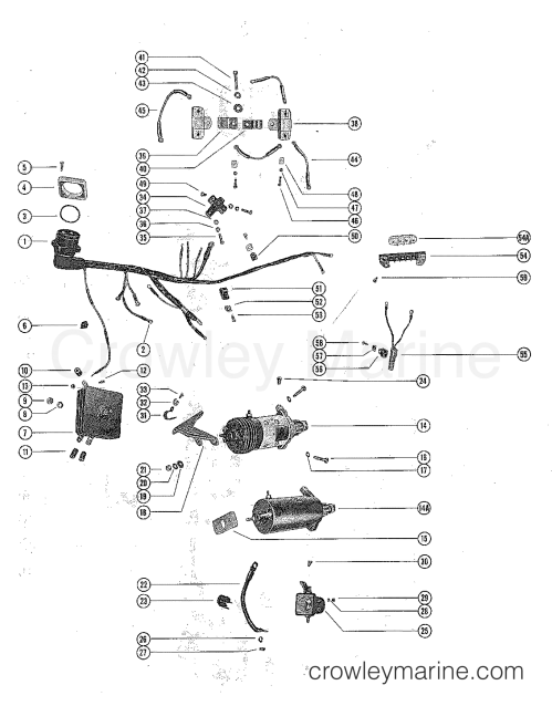 small resolution of serial range mercury outboard 800 6 cyl 1398630 thru 1566239 starter