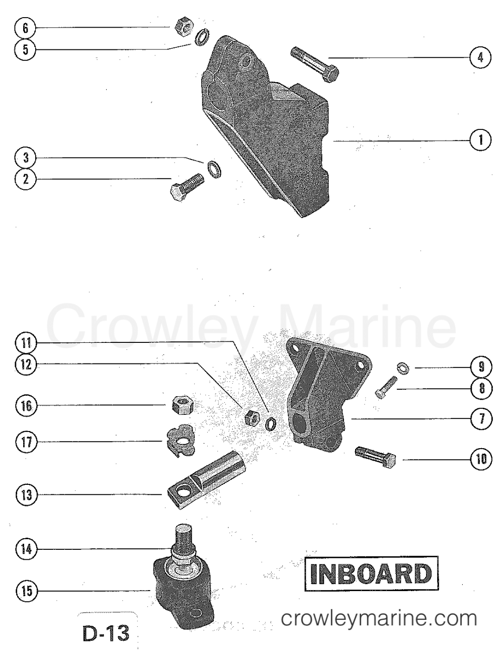 medium resolution of serial range mercruiser 228 4 bbl gm 305 v 8 1977