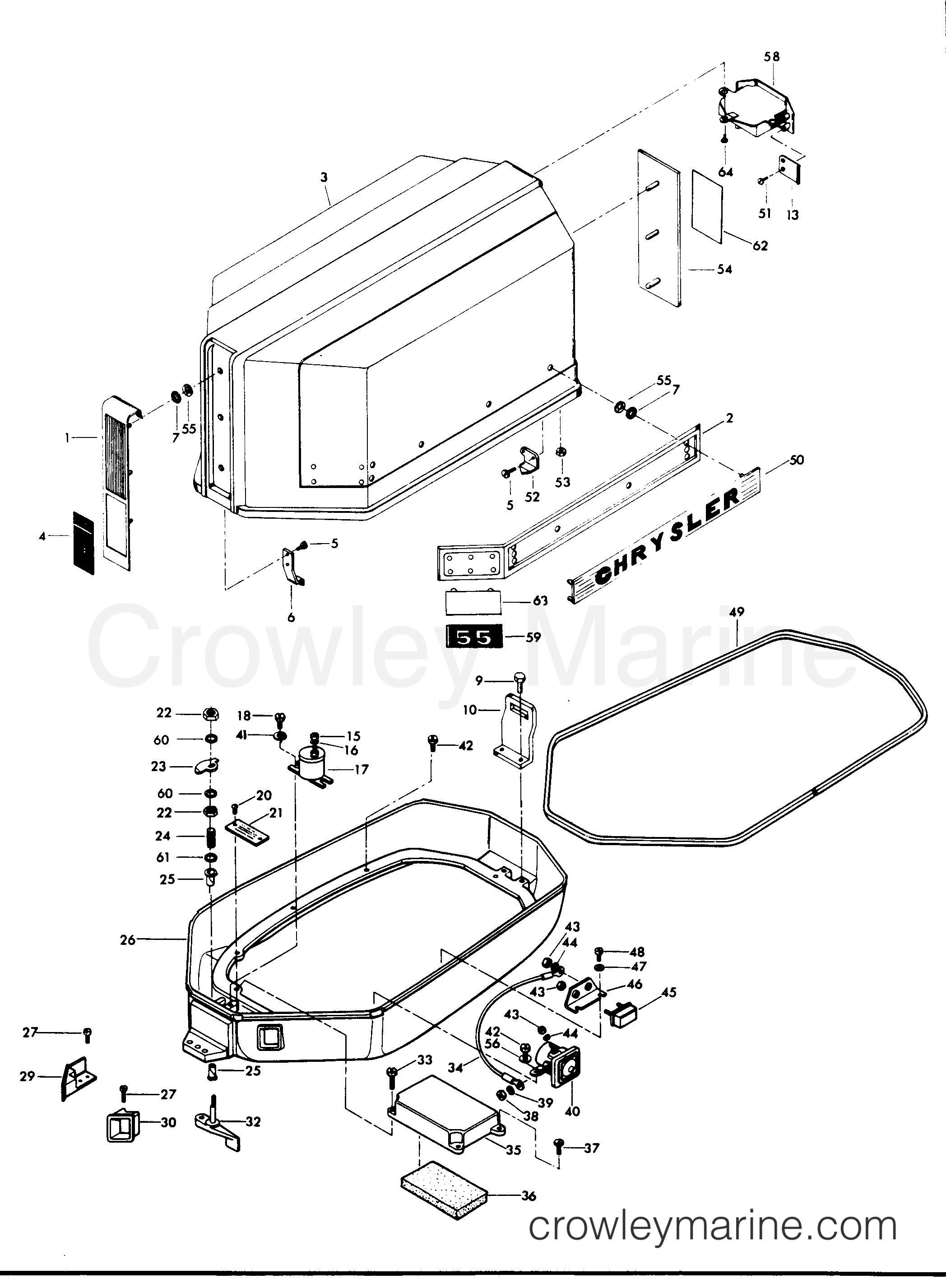 Engine Cover And Support Plate