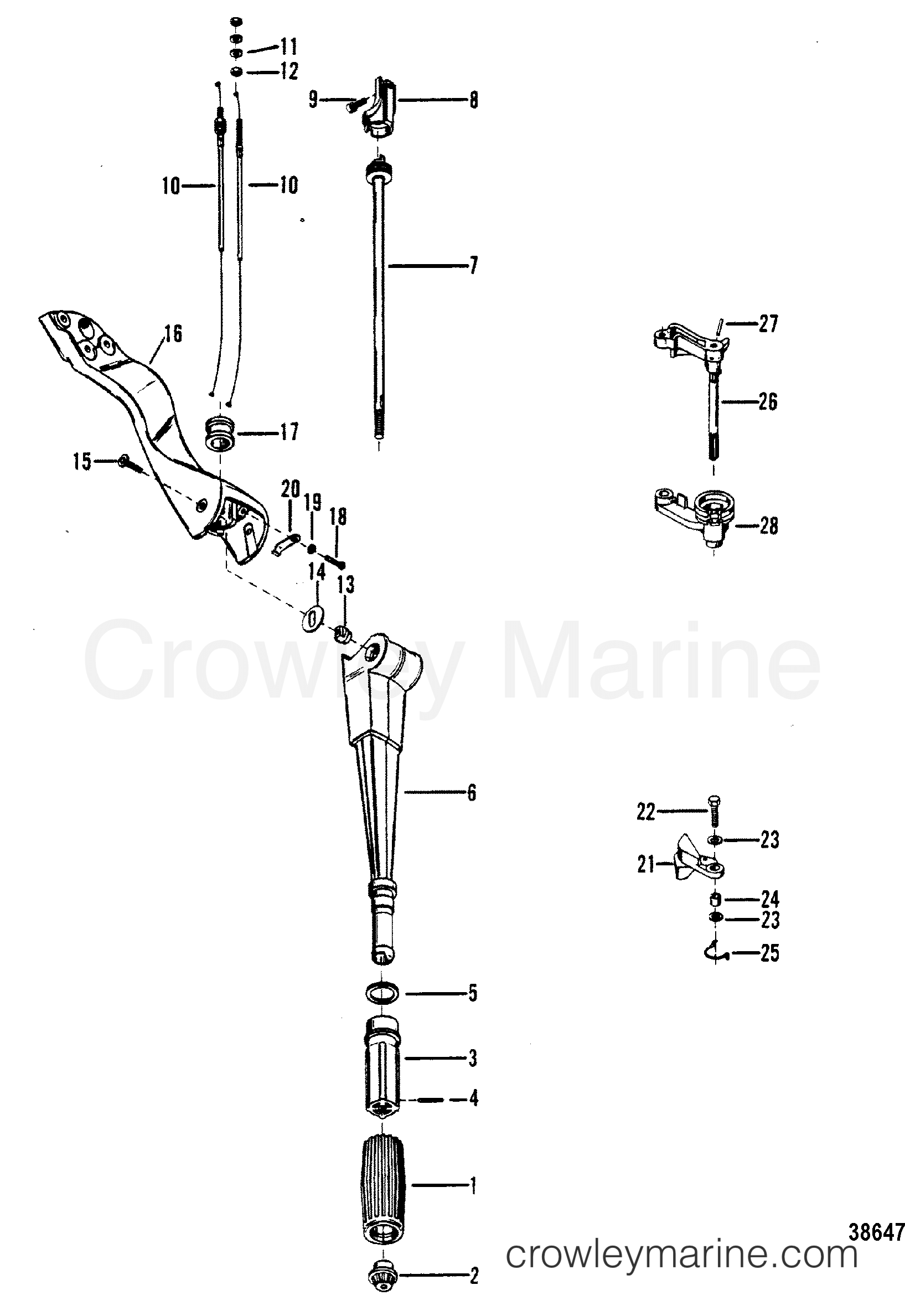 Steering Handle And Throttle Linkage