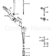 Mercury Outboard Parts Online 1995 Johnson 115 Wiring Diagram Steering Handle And Throttle Linkage 1979